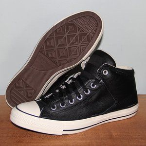 NEW Chuck Taylor Street Hi Top Leather Sneakers 9